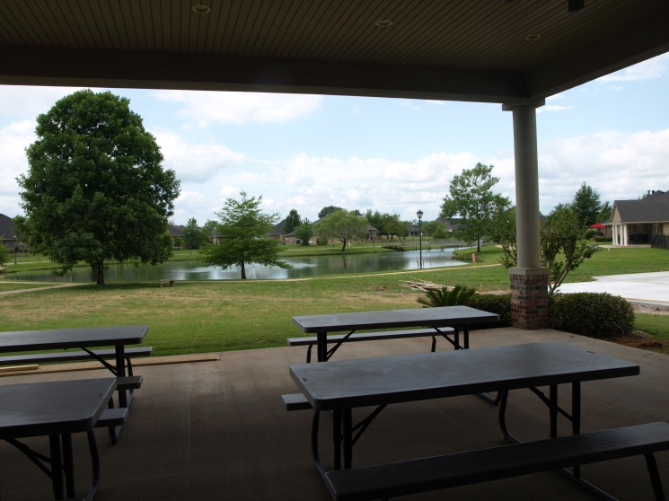 Back porch of Community Clubhouse