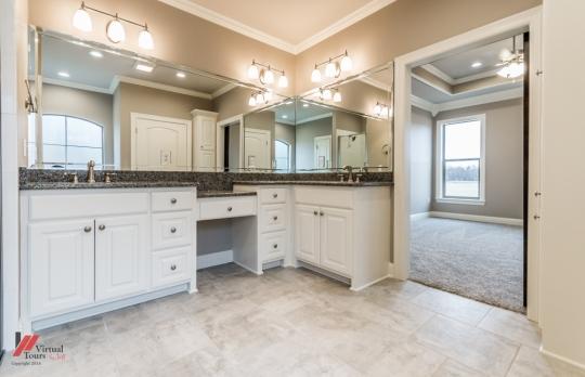 Oversized bathrooms